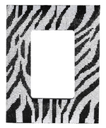 ZEBRA PRINT BEADED PHOTO FRAME