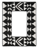 LG AZTEC BEADED PHOTO FRAME