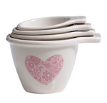 LOVE HEARTS MEASURING CUPS X 4 SET