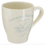 COUNTRY KITCHEN MUGS SET X 4