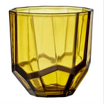 AMBER GLASS TEA-LIGHT HOLDER