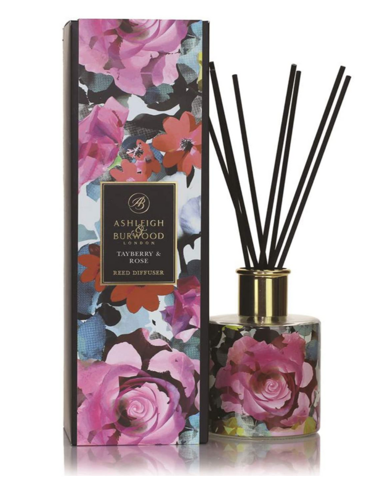ASHLEIGH & BURWOOD REED DIFFUSER - IN BLOOM - TAYBERRY & ROSE 300ML