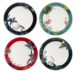 TAHITI DINNER PLATES SET x 4