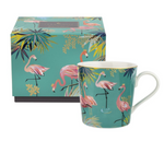 TAHITI PORCELAIN FLAMINGO MUG 12oz