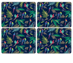 PARROT DESIGN PLACEMAT SET X 4