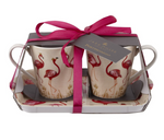 FLAMINGO MUG & TRAY SET