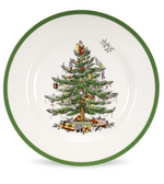 CHRISTMAS TREE DINNER PLATE SET X 4