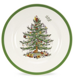 CHRISTMAS TREE SIDE PLATES SET X 4