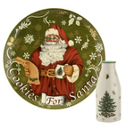 CHRISTMAS TREE SANTA COOKIES & MILK BOTTLE SET
