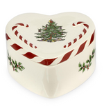 CHRISTMAS TREE PEPPERMINT LIDDED HEART BOX