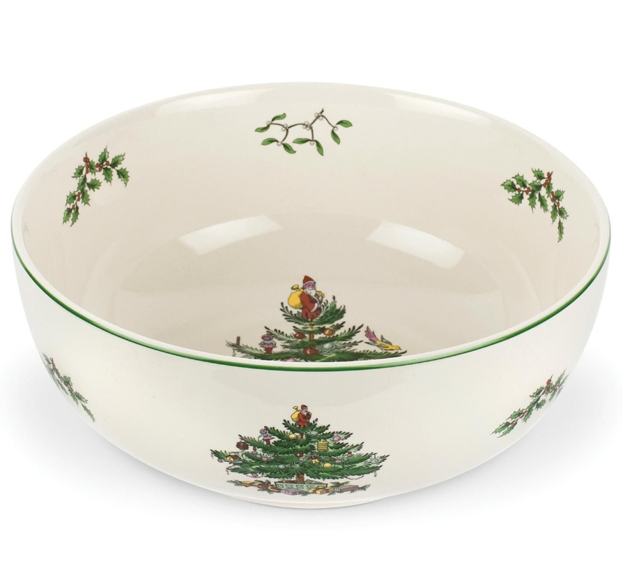 CHRISTMAS TREE SERVING BOWL