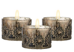 VERDIA MINI BRONZ TEALIGHT SET x 3