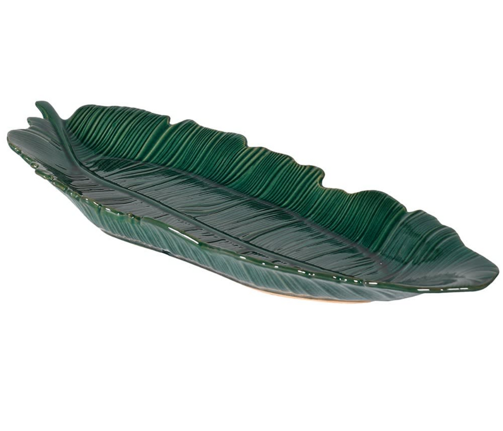 GREEN LEAF CERAMIC TRAY
