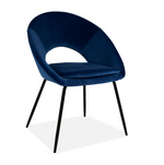 BLUE OPEN BACK DINING CHAIR x 2