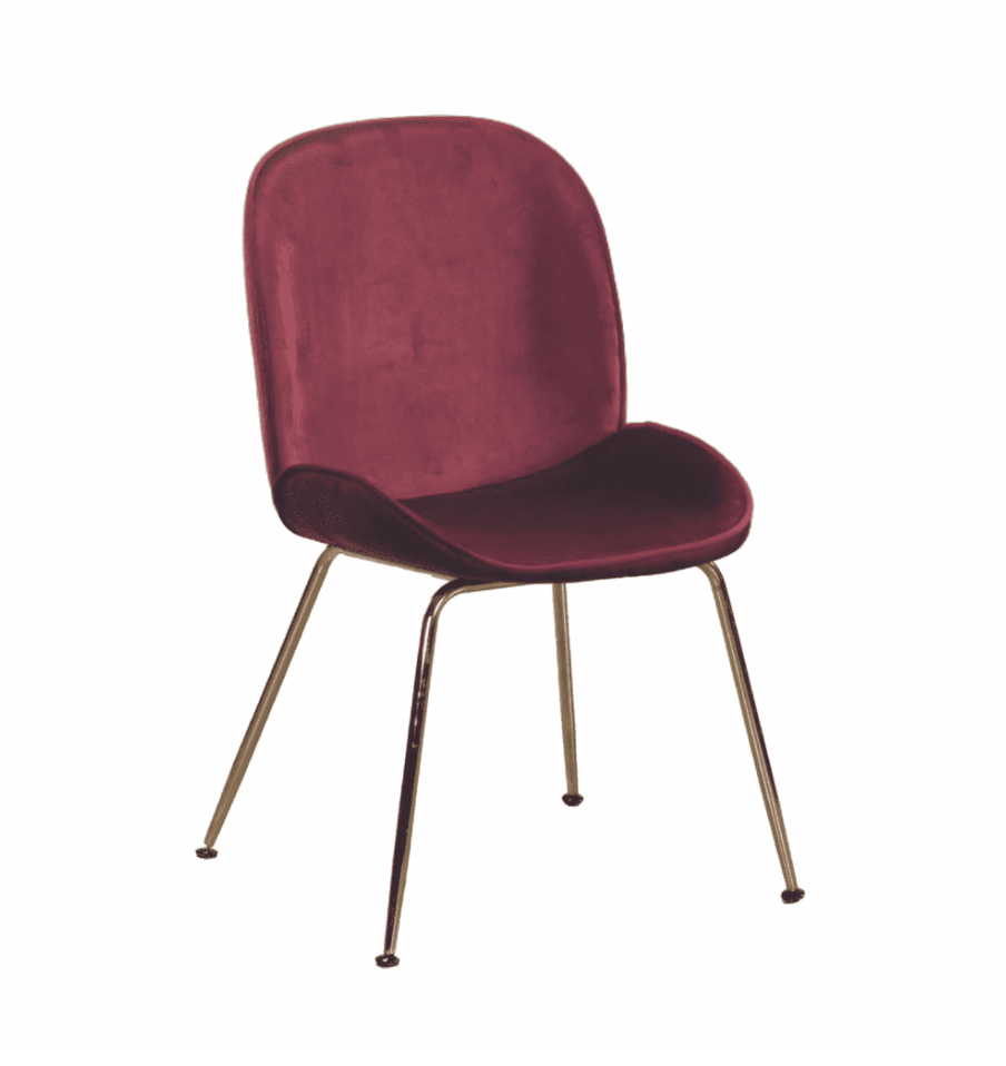 BEETLE STYLE DINING CHAIRS WITH GOLD LEGS x 2