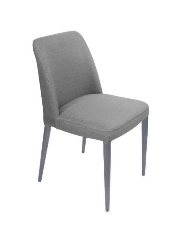 SET OF 2 ELBA GREY DINING CHAIRS