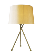 BAMBOO TABLE LAMP ANTIQUE BRASS