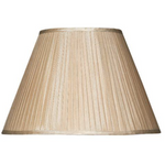 FAUX SILK 43CM PLEATED LAMP SHADE
