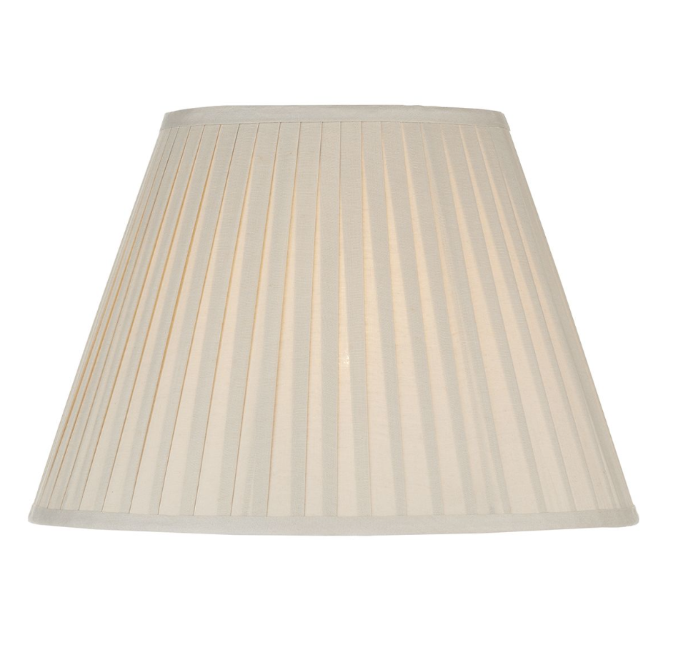 PLEATED COTTON LAMP SHADE SAND COLOUR 43CM