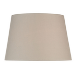 TAPERED TAUPE COTTON 45CM DRUM SHADE