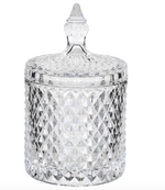 CUTGLASS JAR WITH DOMED LID