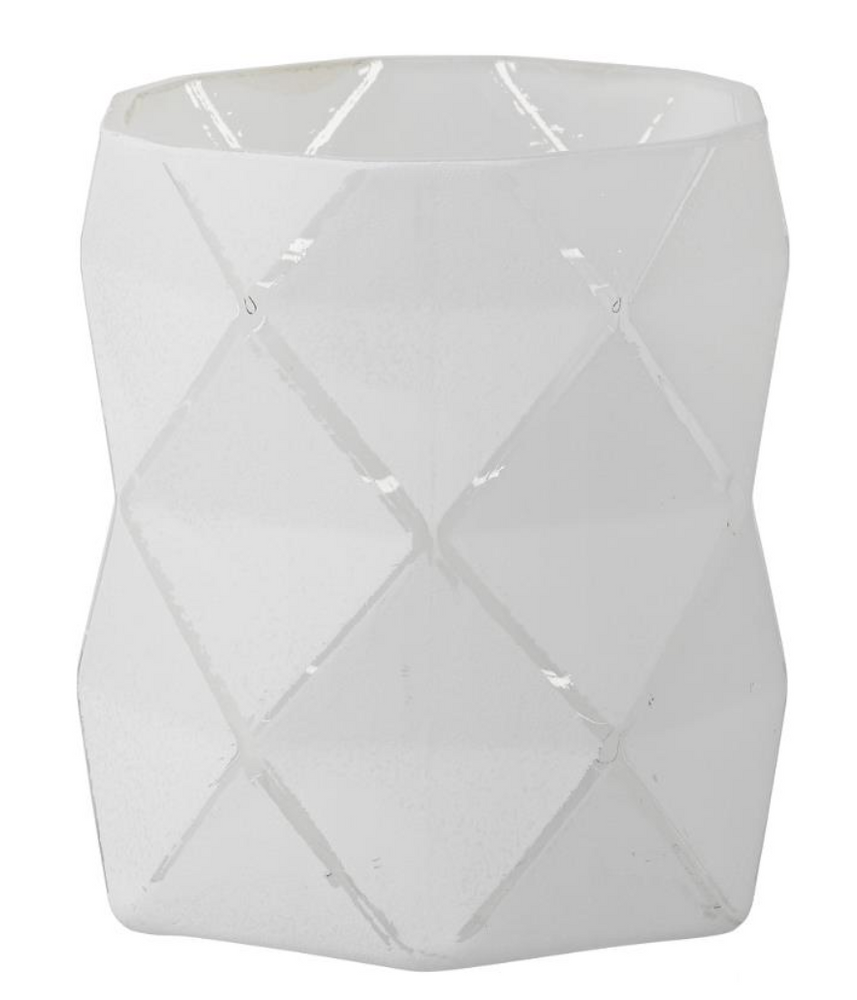 ABILENE VOTIVE WHITE GLASS