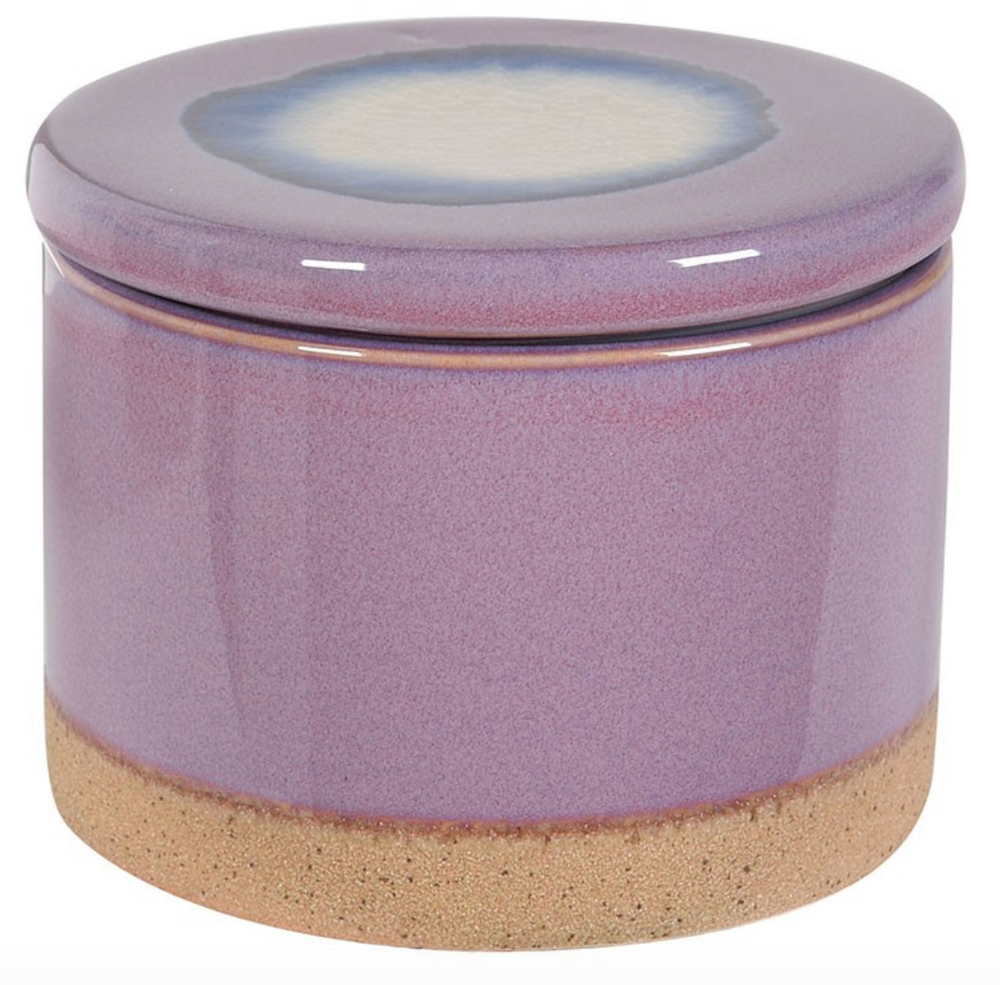 PURPLE CERAMIC STORAGE JAR