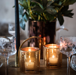 GOLD HURRICANE LAMP BY SKOGSBERG & SMART
