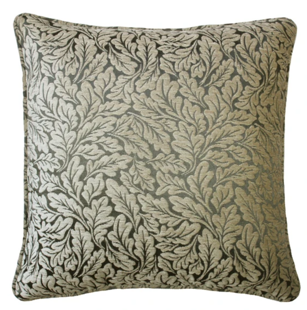 WOVEN WINDSOR JACQUARD STONE GREY CUSHION COVER