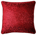 BORDEAUX  RED JACQUARD CUSHION COVER