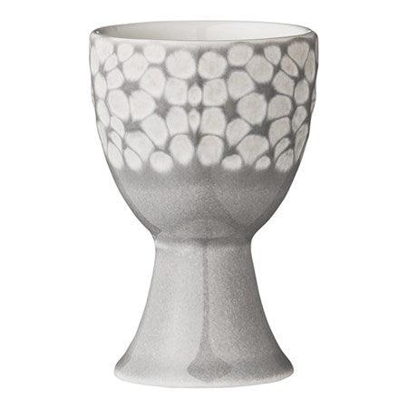 CERAMIC EGG CUP GREY ABELLA