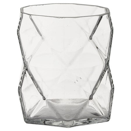 ABILENE SMALL TEALIGHT HOLDER - CLEAR GLASS