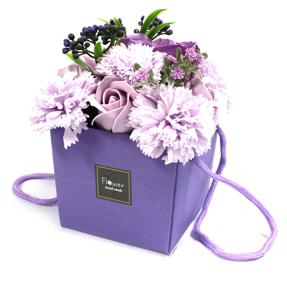 SOAP FLOWER BOUQUET - LAVENDAR, ROSE & CARNATION