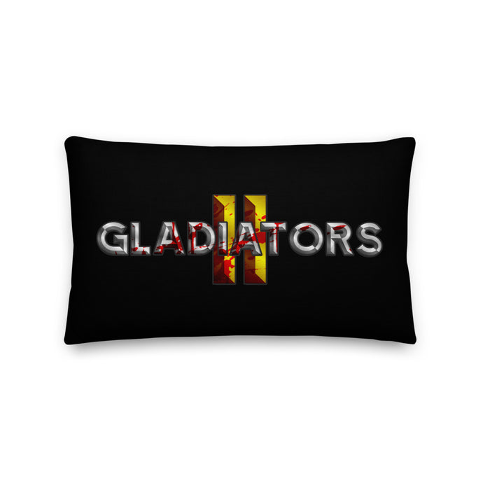 Gladiators 2 Bloody Full Logo Premium Black Pillow