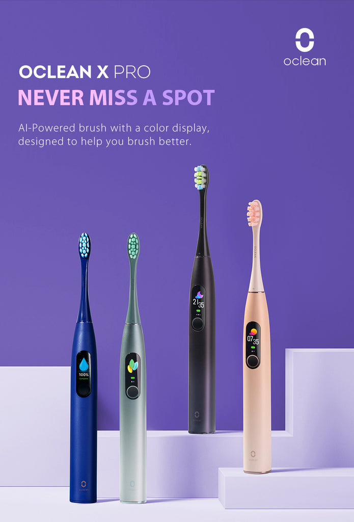 New Global Version Oclean X Pro Electric Toothbrush Touch Screen IPX7 Fast Charging Smart Sonic Electric Toothbrush Adult