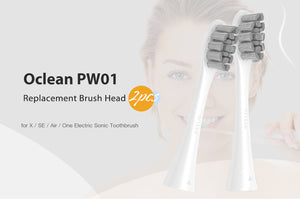 Oclean X Pro/ X / ZI/ F1 2PCS Replacement Brush Heads For Automatic Electric Sonic Toothbrush Deep Cleaning Tooth Brush Heads