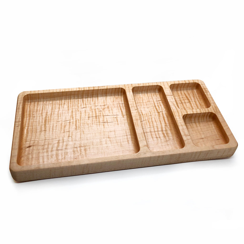 Wooden Valet Tray [Curly Maple]