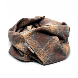 Brown/Tan Plaid Infinity Scarf