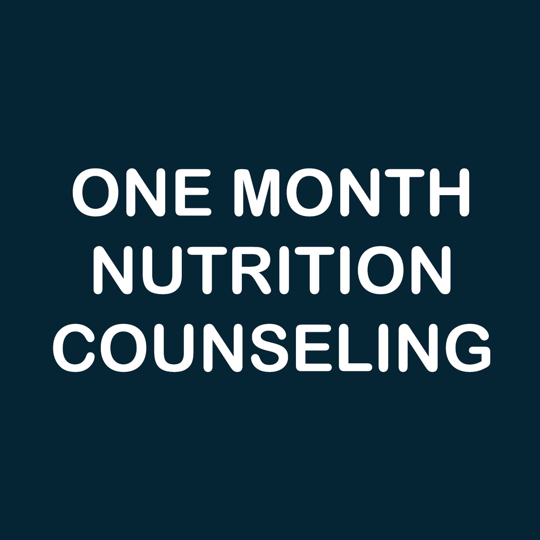 1 month nutrition counseling
