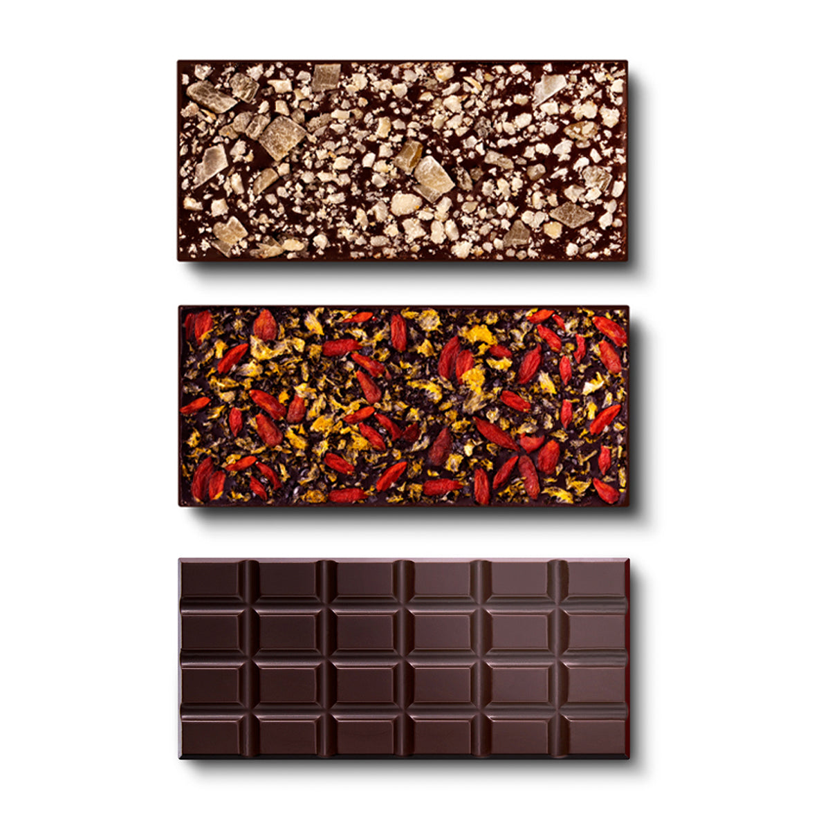 French Dark Chocolate, 3-Set - Flair Chocolatier