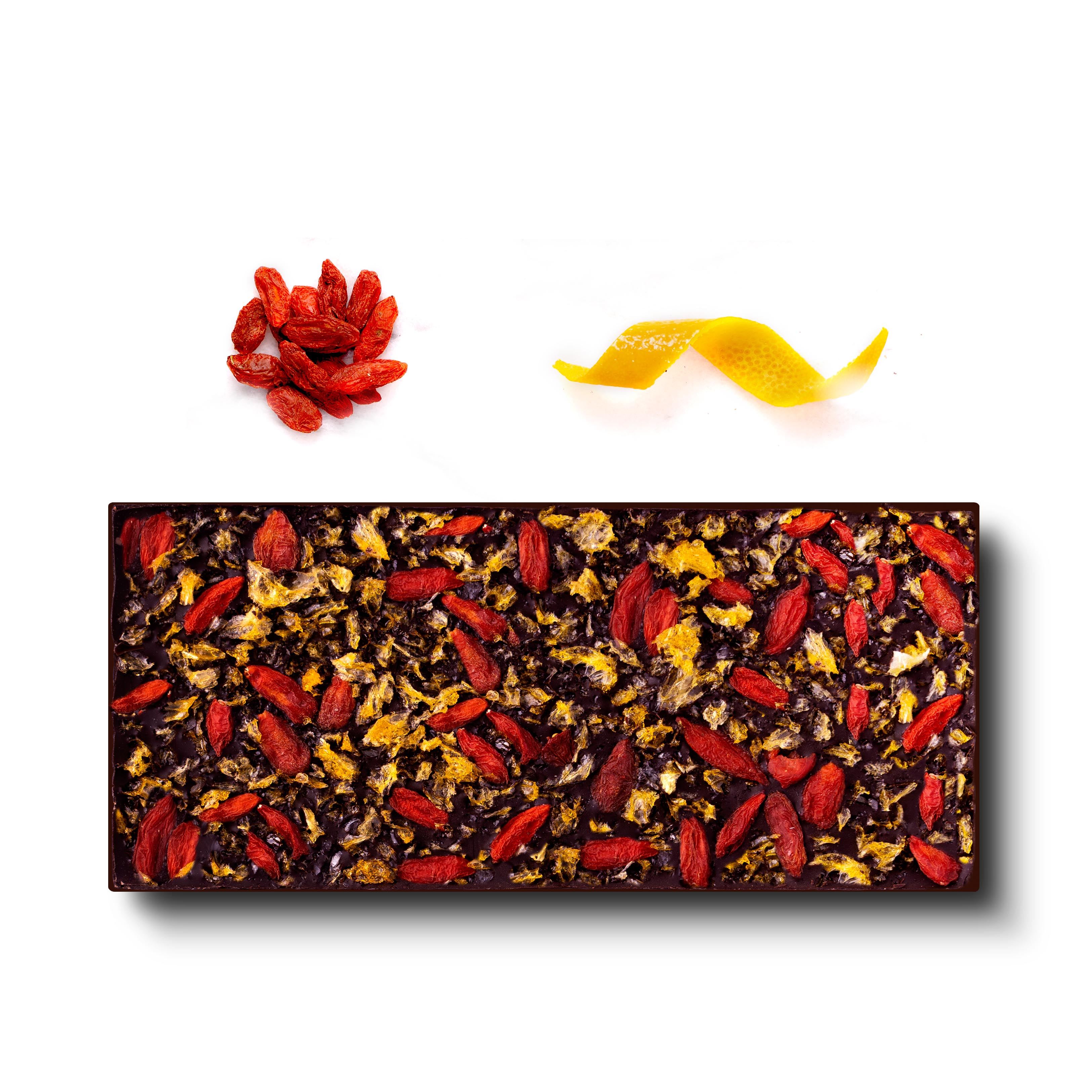 French Dark Chocolate - Beijing (Goji Berries and Mandarin Orange) - Flair Chocolatier