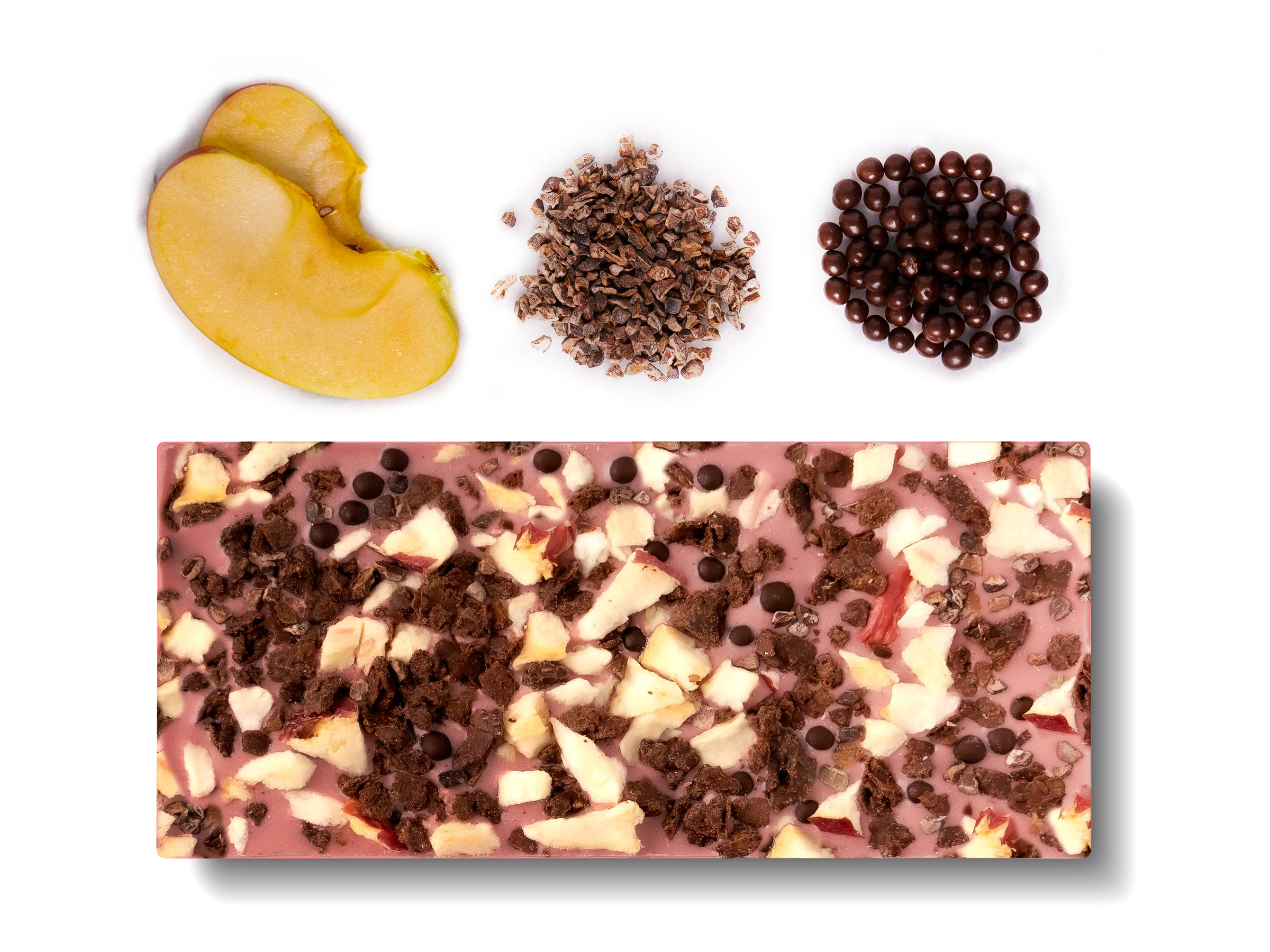 Ruby Chocolate - New York (Fuji Apple & Dark Chocolate Pearls) - Flair Chocolatier
