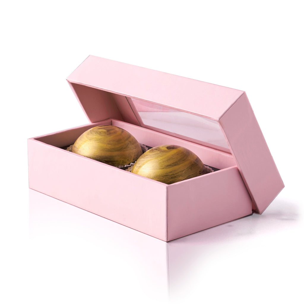 Pecan Praline Chocolate Truffle Box, 2 pc. - Flair Chocolatier