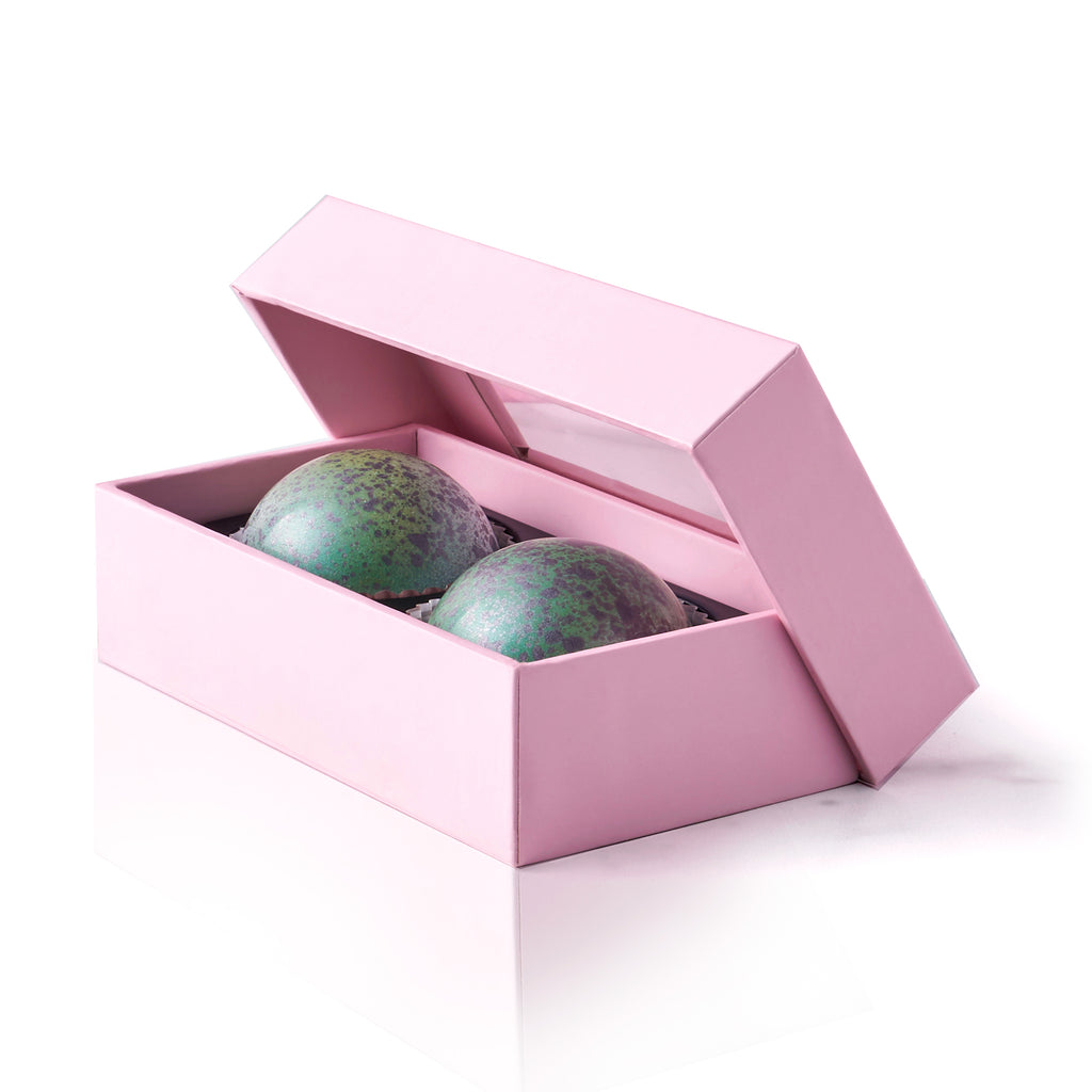 Espresso Orange Chocolate Truffle Box, 2 pc. - Flair Chocolatier