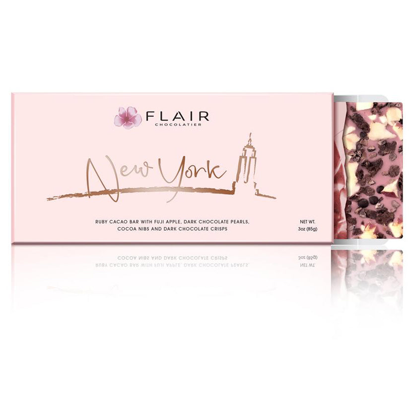 Ruby Chocolate - New York (Apple & Dark Chocolate Pearls), 7-Set - Flair Chocolatier