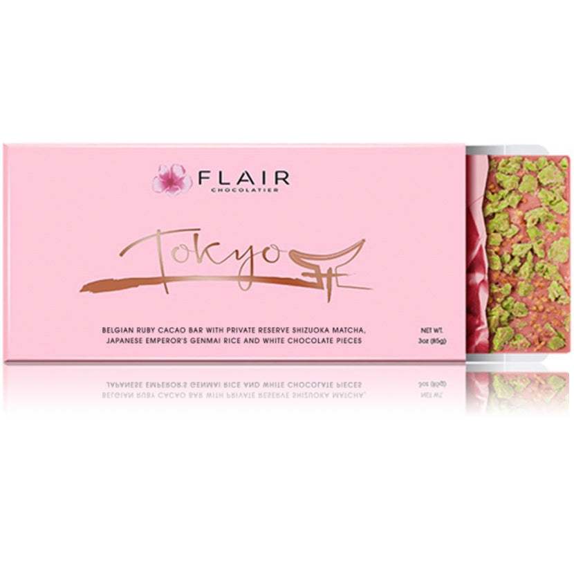 Ruby Chocolate - Tokyo (Private Reserve Matcha & Genmai Rice) - Flair Chocolatier