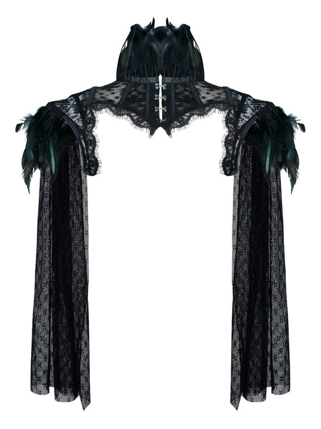 Steampunk Gothic Accessories Long Sleeves Bolero Jacket Shrug