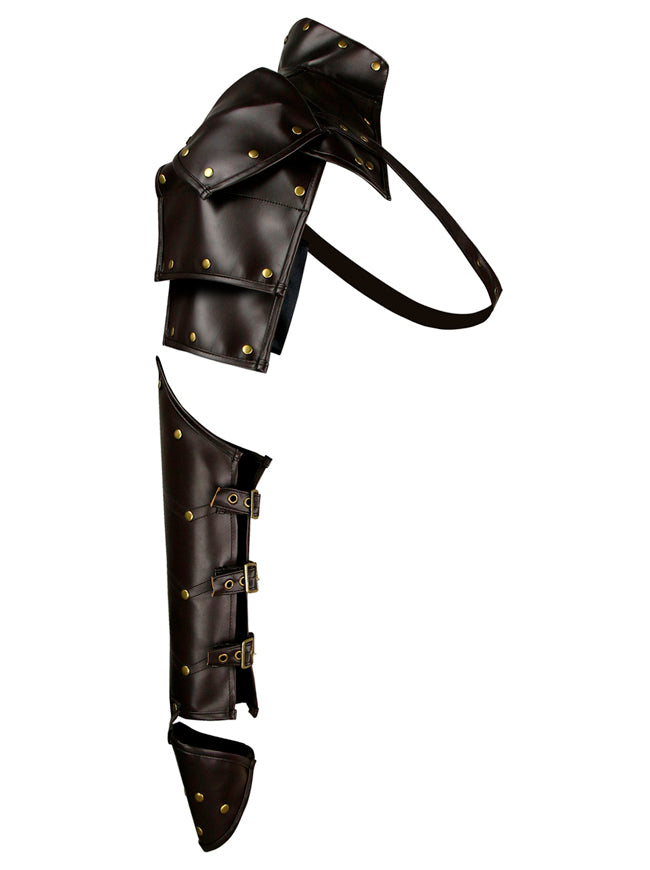 Steampunk Shoulder Armor Leather Pauldron Harness Gauntlet Guard