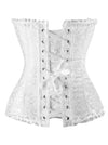 Elegant Traditional Jacquard Wedding Bride Ruffle Trim Strapless Body Shaper Plus Size Overwear Corset