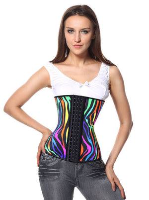 Hot Sale High Quality Casual All-match Lady Latex Vintage Steel Boned Strapless Waist Training Underbust Corset Tops Main View